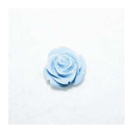 Rosa de resina pequeña azul