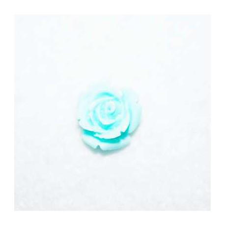 Rosa de resina pequeña celeste
