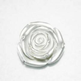 Rosa de resina grande plata