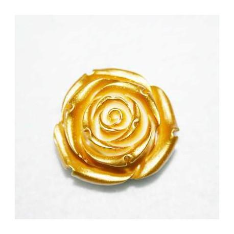 Rosa de resina grande dorada