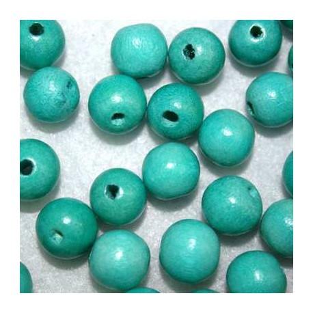 Bola madera turquesa 10mm