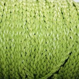Cuero sintético trenzado 3mm verde pistacho