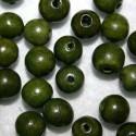 Bola madera verde oliva 10mm