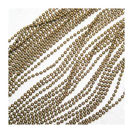Cadena bolitas 2mm bronce