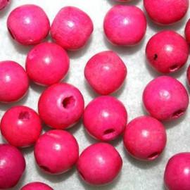Bola madera rosa 10mm