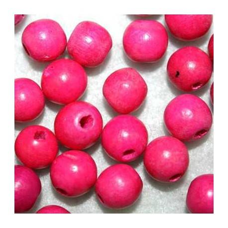 Bola madera rojo 10mm