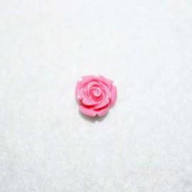 Rosa de resina chiquita rosa