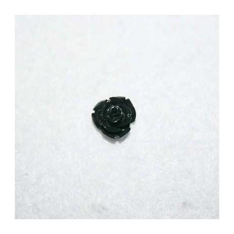 Rosa de resina chiquita negra