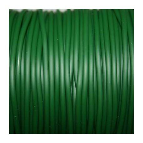 Caucho verde 2mm hueco