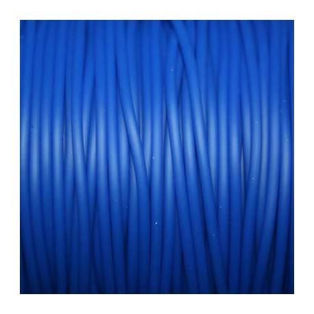 Caucho azul 2mm hueco