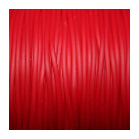 Caucho rojo 2mm hueco