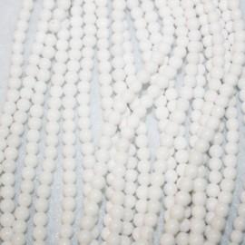 Piedra natural Jade teñido blanco