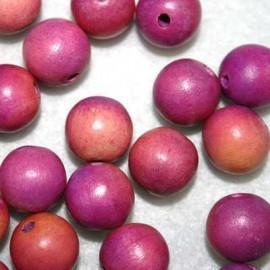 Bola madera violeta 15mm