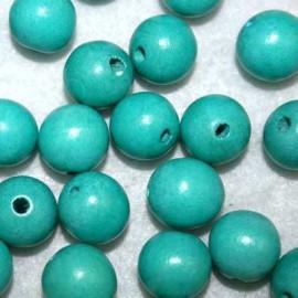 Bola madera turquesa 15mm