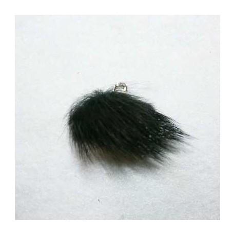 Pompón de pelo negro