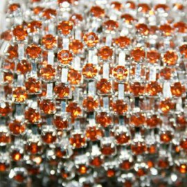 Cadena Strass 4mm Topaz