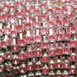 Cadena Strass 4mm Rose