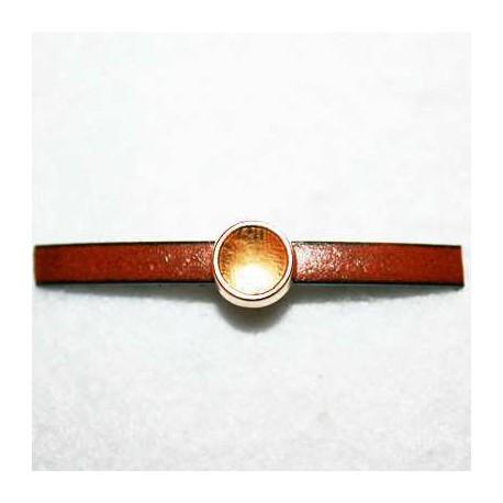 Paso para chatón de cristal Swarovski 8,16mm, dorado