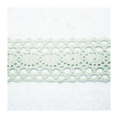 Cinta vintage verde agua gruesa 28mm