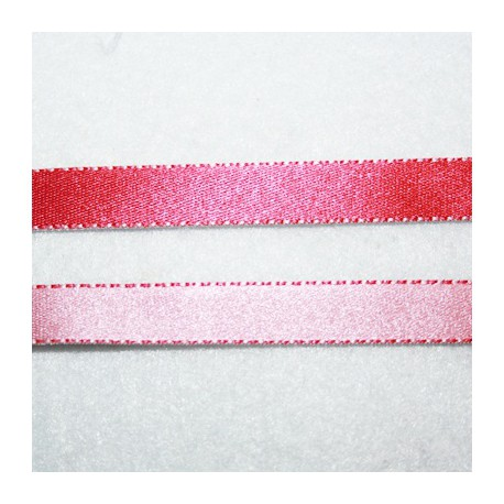 Cinta doble cara fucsia y rosa 10mm