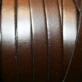 Cuero plano natural marrón oscuro 10mm
