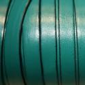 Cuero plano natural turquesa verdoso 10mm