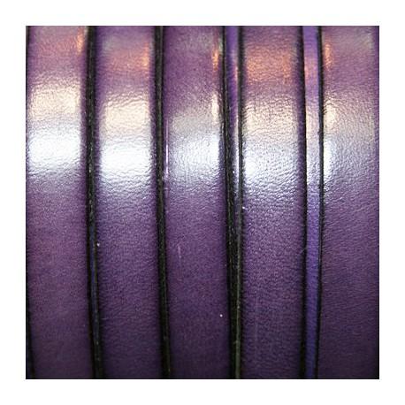 Cuero plano violeta 10mm