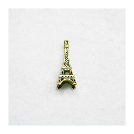 Torre Eiffel dorada (metal)