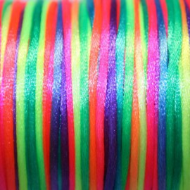 Cola de ratón multicolor fluor 2mm