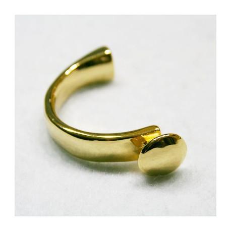 Media pulsera botón liso dorado caja de 10x5mm