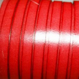 Cuero sintético plano 10mm rojo