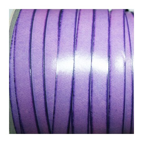 Cuero sintético plano 10mm violeta