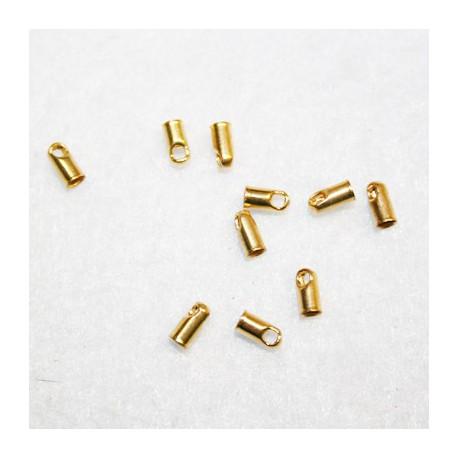 Terminal tubo dorado para 2mm