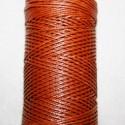 Hilo algodon encerado  marron rojizo de 1mm x 5 metros