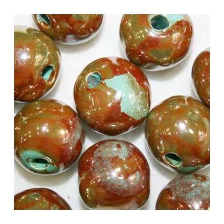 Ceramica Marron y Verde