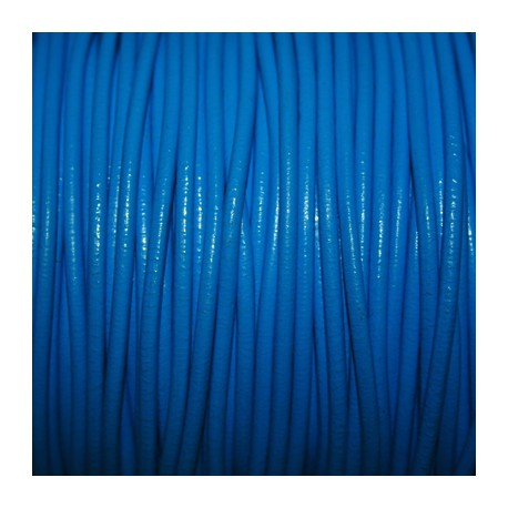 Cuero redondo 3mm nacional azul laguna