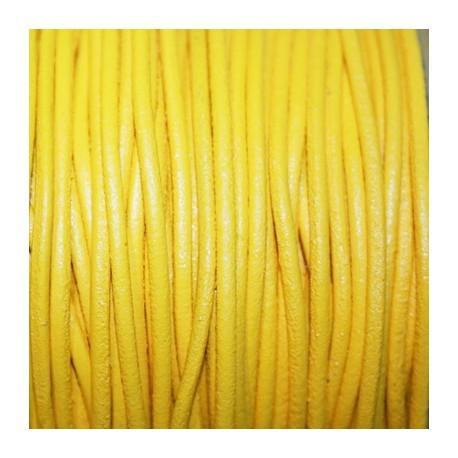 Cuero redondo 2,5mm nacional amarillo