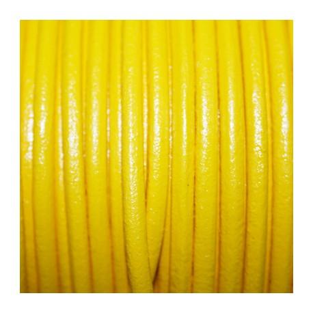 Cuero redondo 4mm amarillo