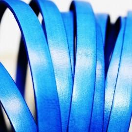 Cuero plano azul cobalto 10mm