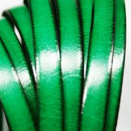 Cuero plano verde esmeralda 10mm
