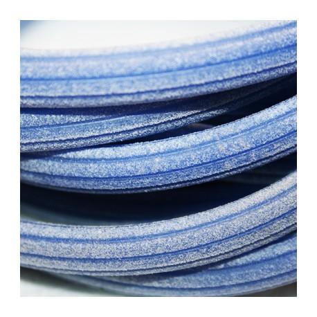 Caucho regaliz rayado azul
