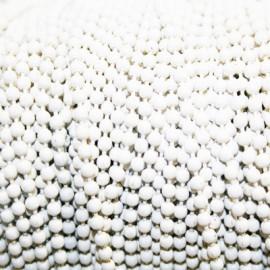 Cadena bolitas blanca x metro