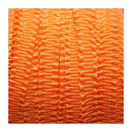 Cinta elástica de volantes naranja