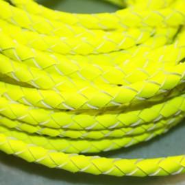 Cuero trenzado fluor amarillo. Se vende x medios metros