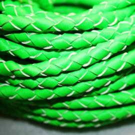 Cuero trenzado fluor verde. Se vende x medios metros