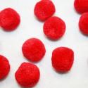 Pompón redondo rojo