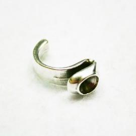 Medio anillo con hueco para cristal de 8,16mm