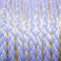 Cuero sintético violeta borde dorado