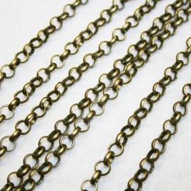 Cadena redonda bronce 7mm