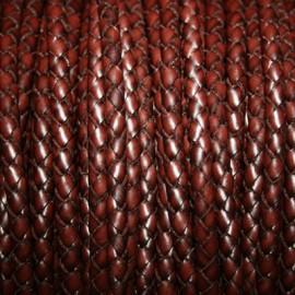 Cuero trenzado 5mm marrón x cm